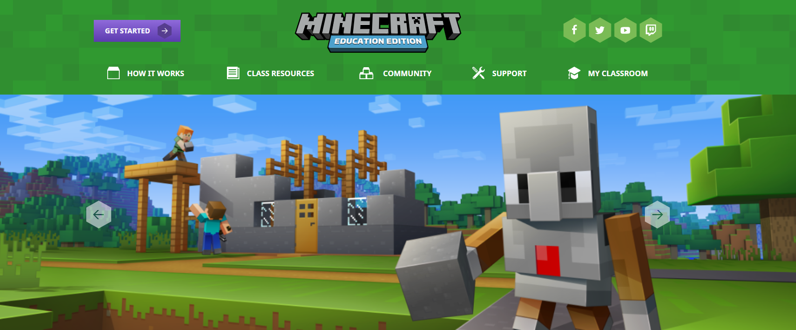 Minecraft - Education Edition has lots of lesson ideas, courses and support to help you get started using MInecraft with your class.